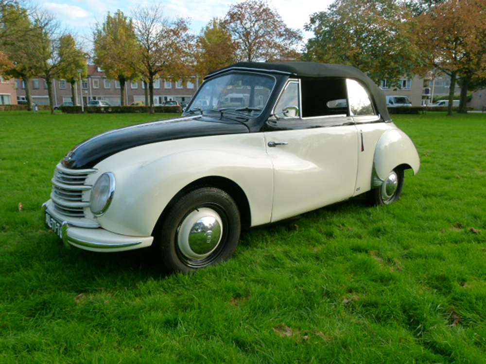 DKW F89 Cabriolet (1951) , 2 cil. 2 takt 85km/h max