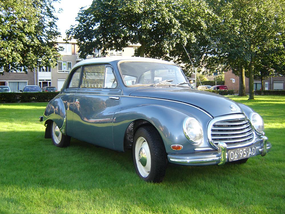 DKW 3=6 (1956) coupe, 3 cil. 2 takt 135km/h max
